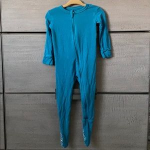 Kickee Pants 9-12 mo zip footie in teal